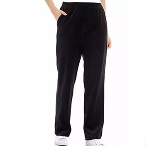Kim Rogers Woman Pull-on Stretch Velour Track Pant